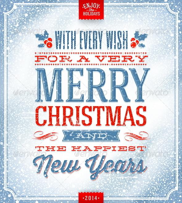Christmas Greeting Illustration - Christmas Seasons/Holidays
