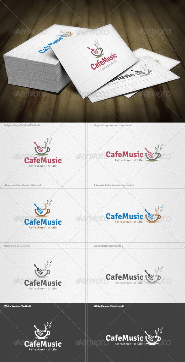 Cafe Music Logo - Food Logo Templates