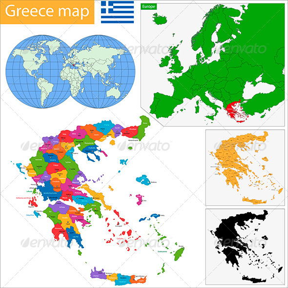 Greece Map - Travel Conceptual