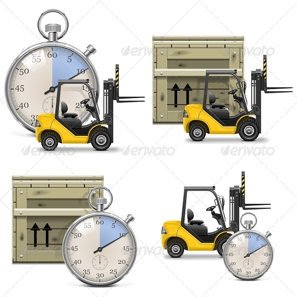 Vector Shipment Icons Set 21 - Industries Business