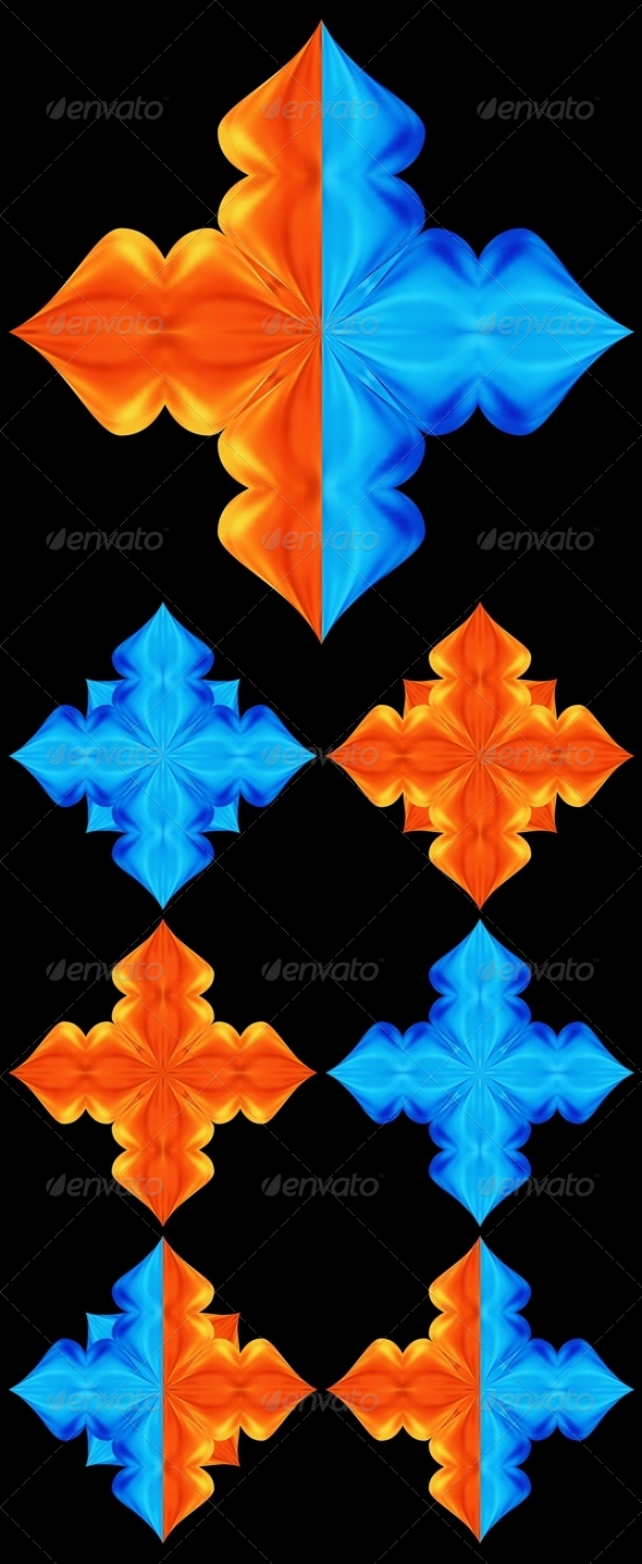 Star. Water and Fire - Decorative Symbols Decorative