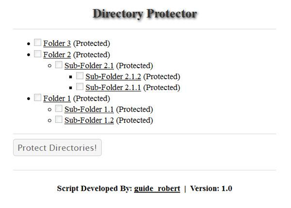 Directory Protector