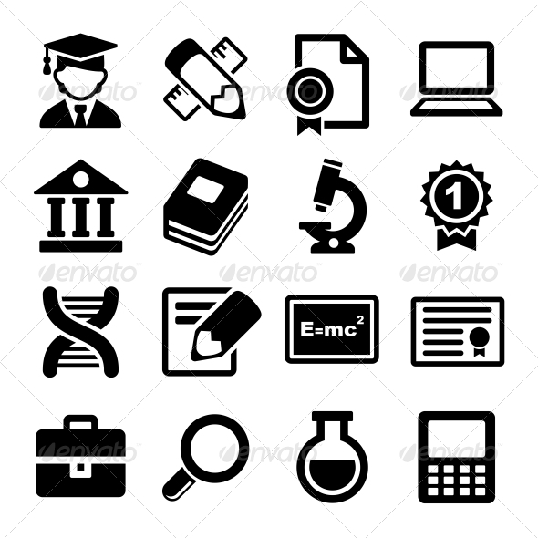 School and Education Icons Set - Miscellaneous Icons