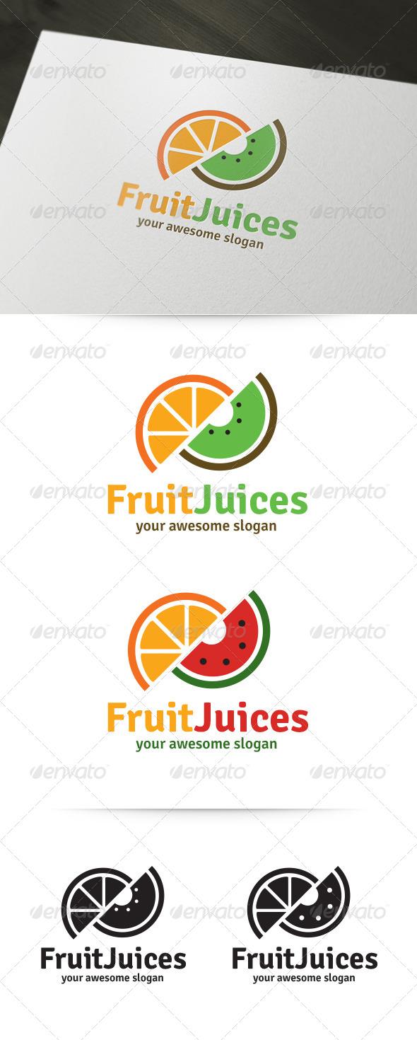 Fruit Juices Logo Template - Food Logo Templates