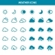 Vector Weather Icons Set - GraphicRiver Item for Sale
