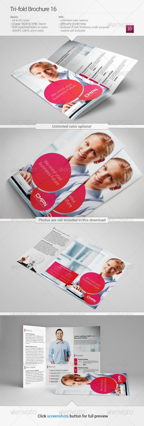 Tri-Fold Brochure 16 - Corporate Brochures