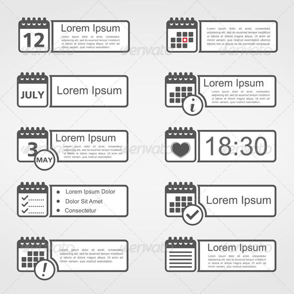 Calendar Icons - Miscellaneous Vectors
