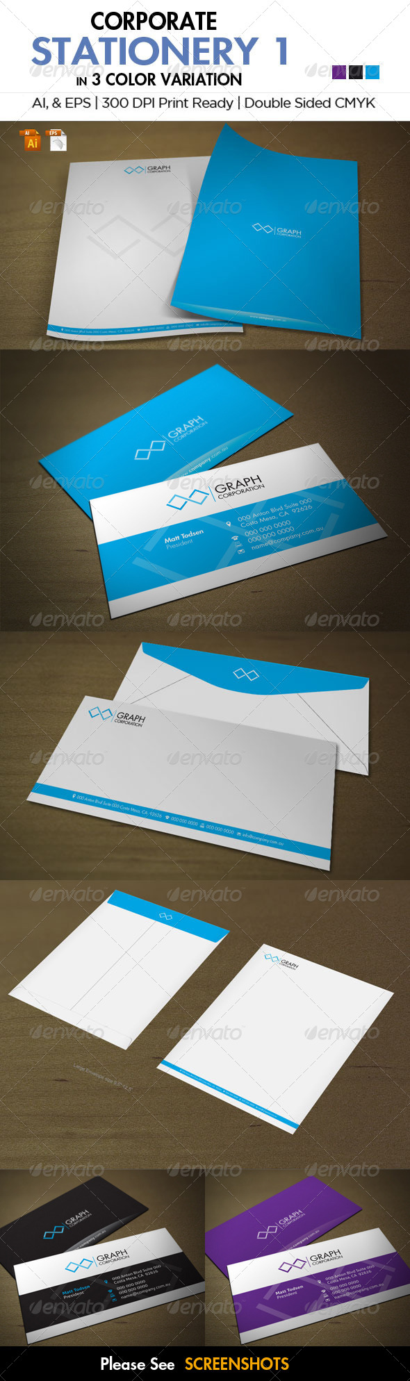 Corporate Stationery 1 - Stationery Print Templates