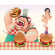 Guys with hamburgers. - GraphicRiver Item for Sale