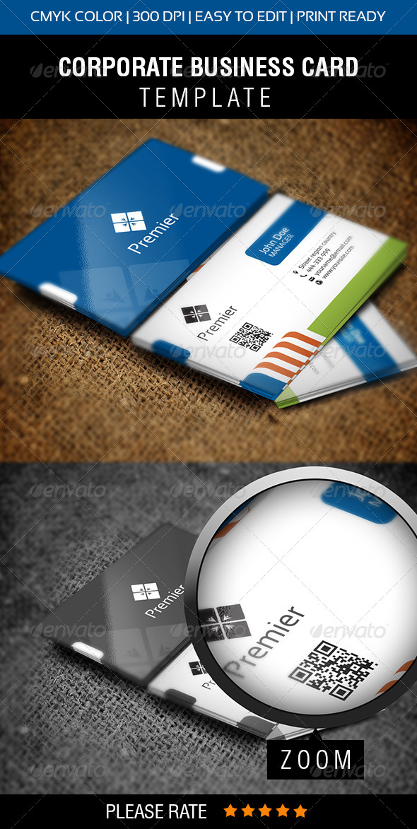 Premier Business Card - Corporate Business Cards