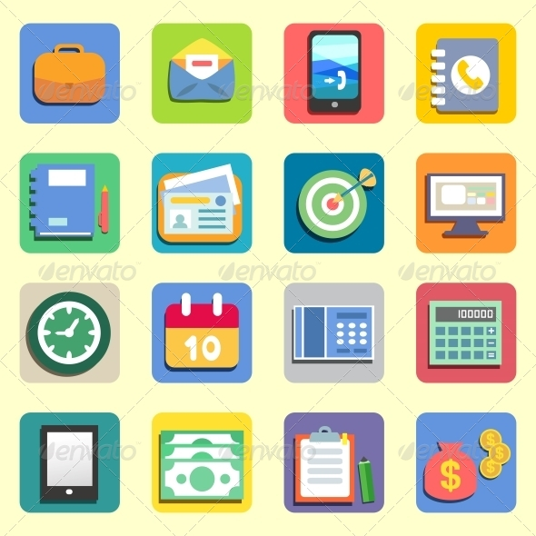 Business Flat Icons - Concepts Business