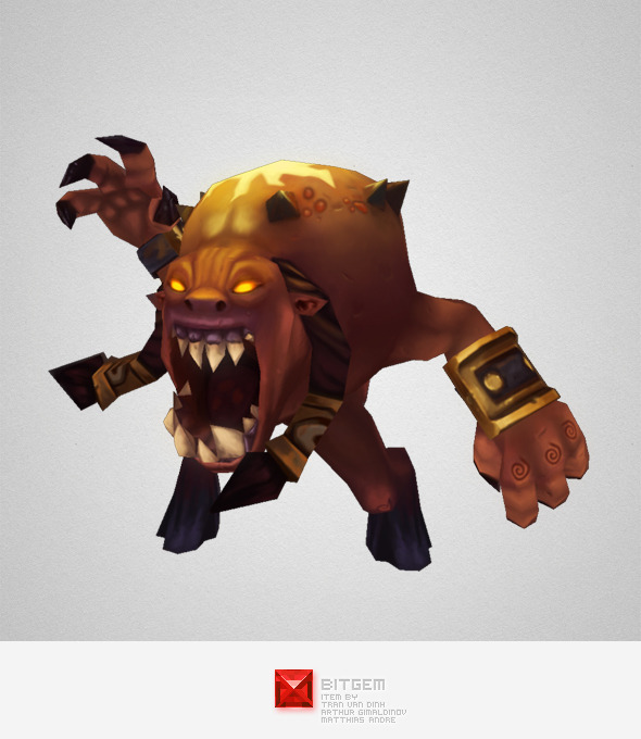 Low Poly Demon Living Bomb - 3DOcean Item for Sale
