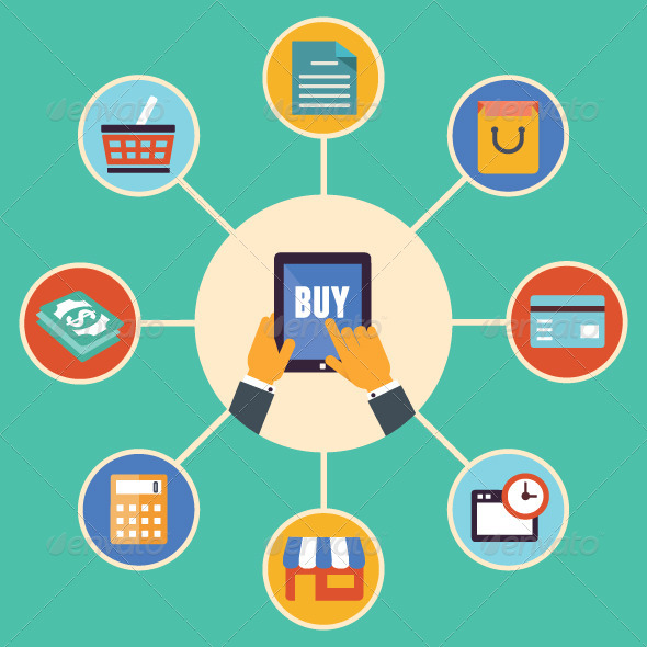 Concept of Internet Shopping  - Retail Commercial / Shopping