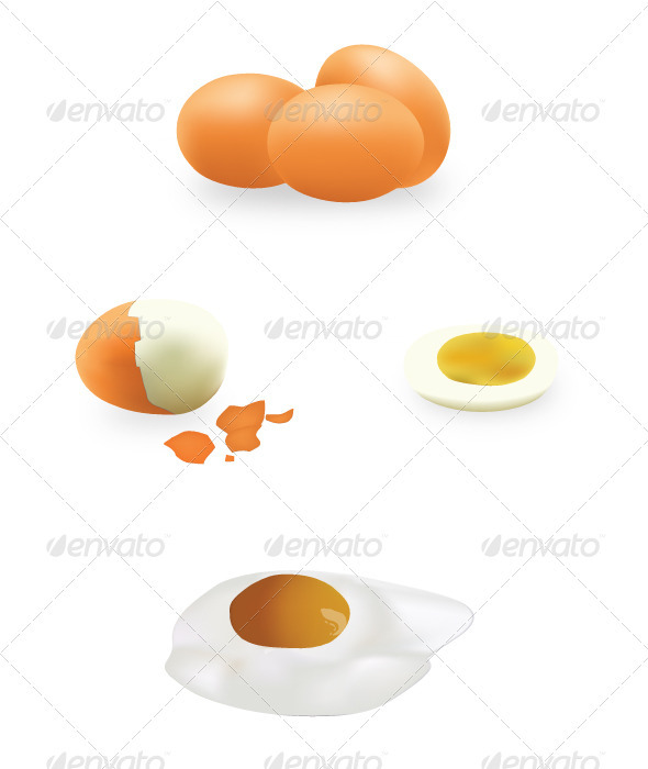 Vector Eggs - Food Objects