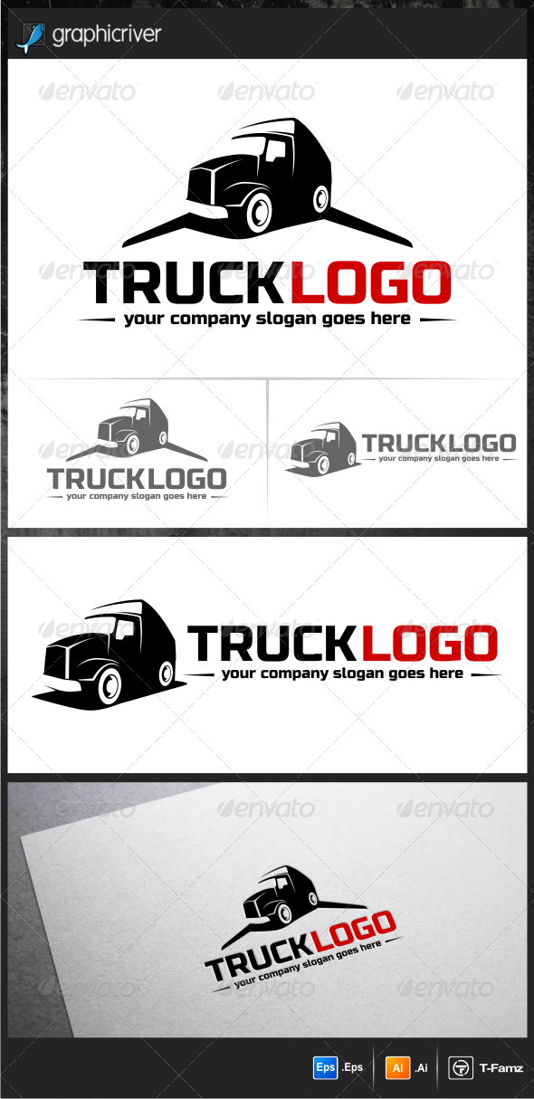 Work Truck Logo Templates - Objects Logo Templates