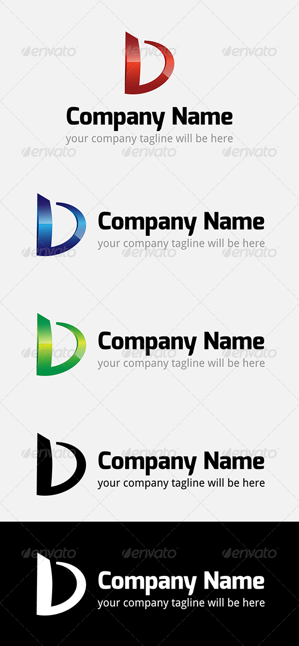 D Company Logo - Letters Logo Templates