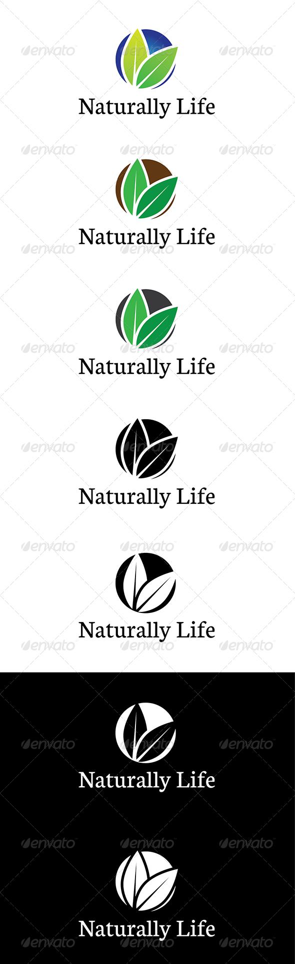 Naturally Life Logo - Nature Logo Templates