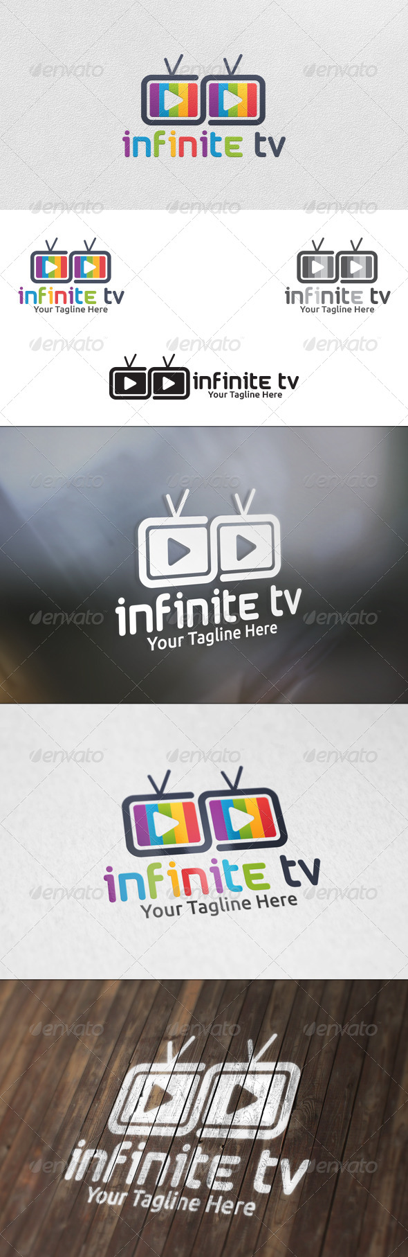 Infinite TV - Logo Template - Symbols Logo Templates