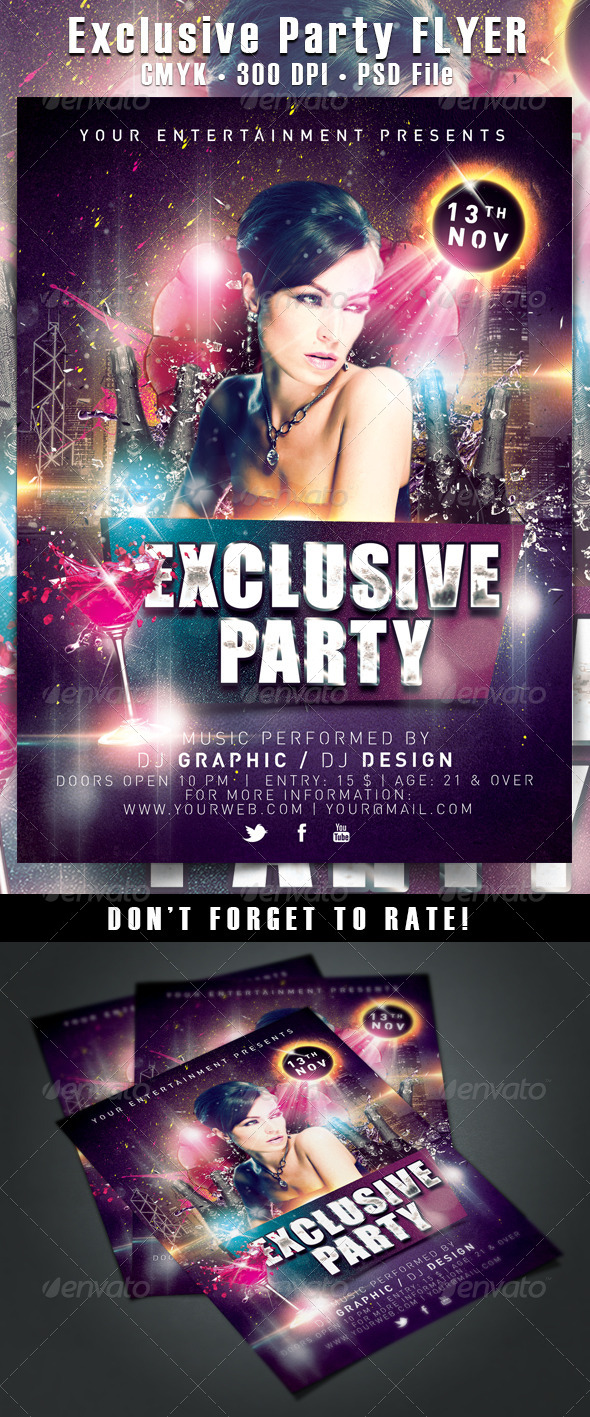 images of party flyers