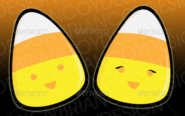 Candy Corn - Characters Vectors
