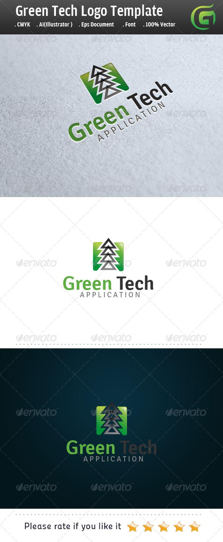 Green Tech App Logo - Symbols Logo Templates