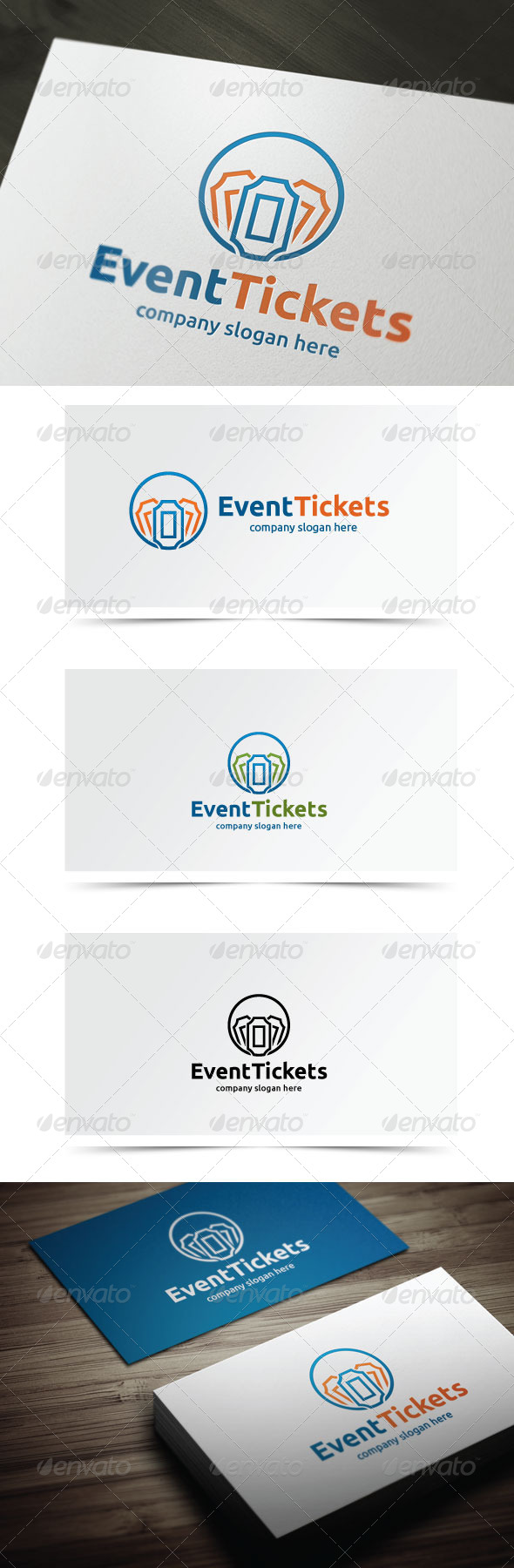 Event Tickets - Objects Logo Templates