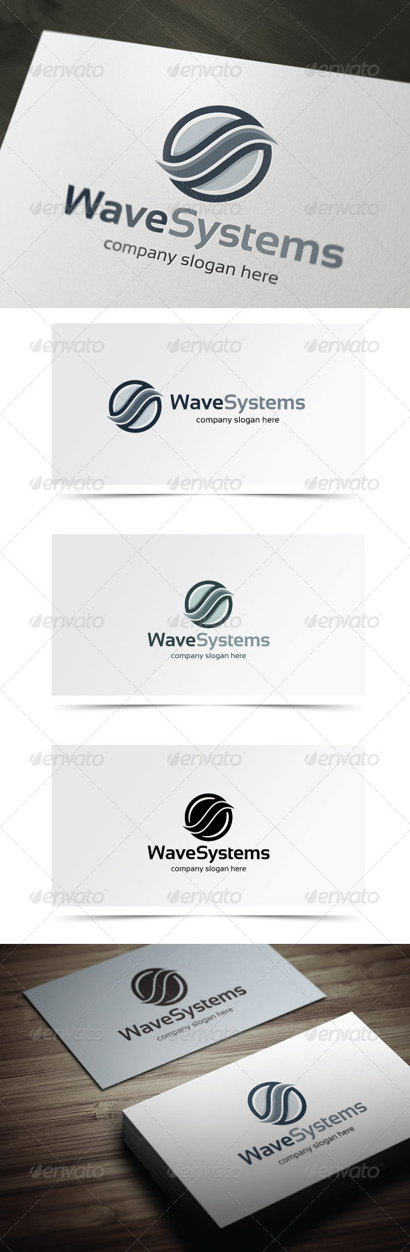 Wave Systems - Abstract Logo Templates