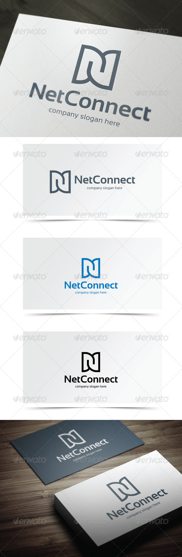 Net Connect - Letters Logo Templates