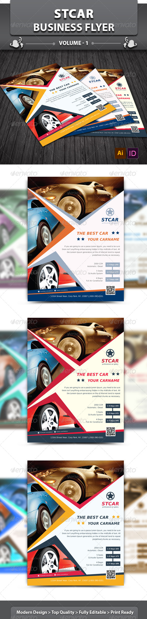 Automobile Business Flyer | Volume 1 - Corporate Flyers