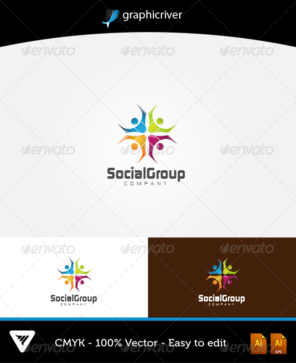 Social Group Logo - Logo Templates