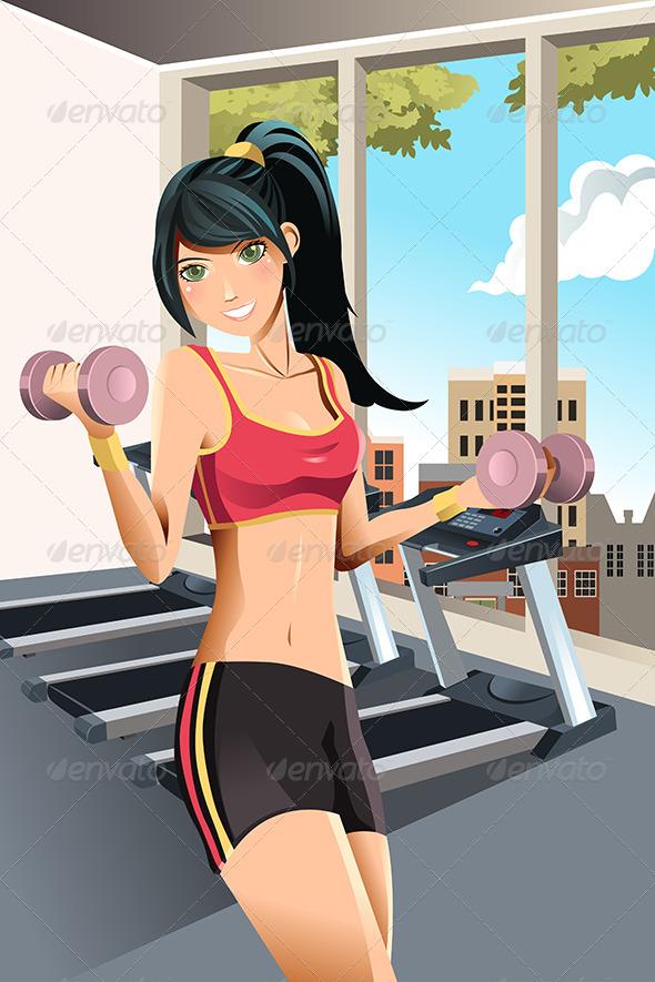 Girl Exercising - Sports/Activity Conceptual