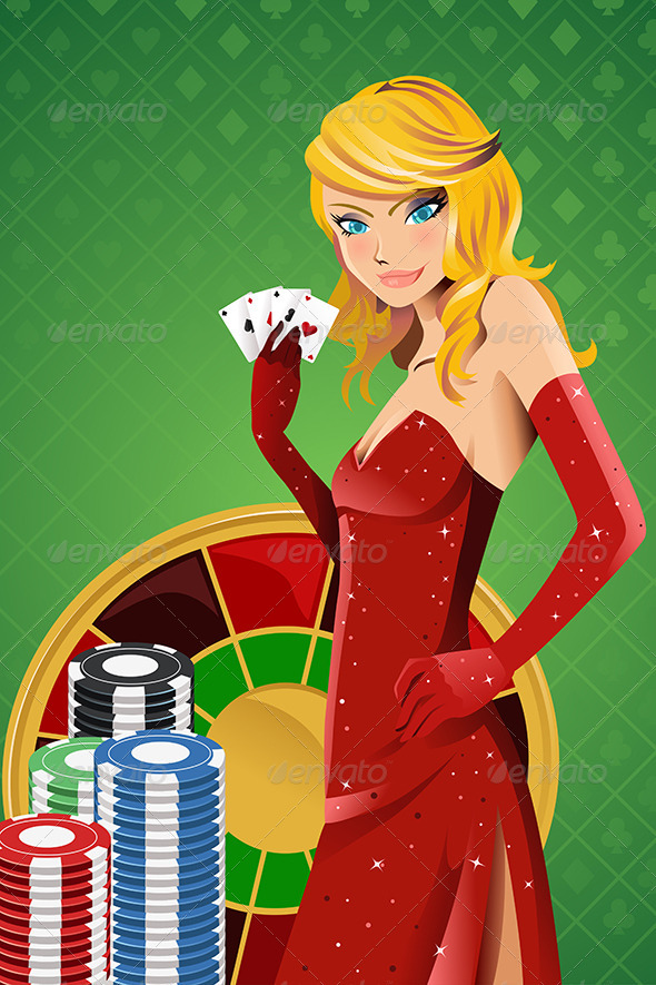 Poker Woman - People Characters
