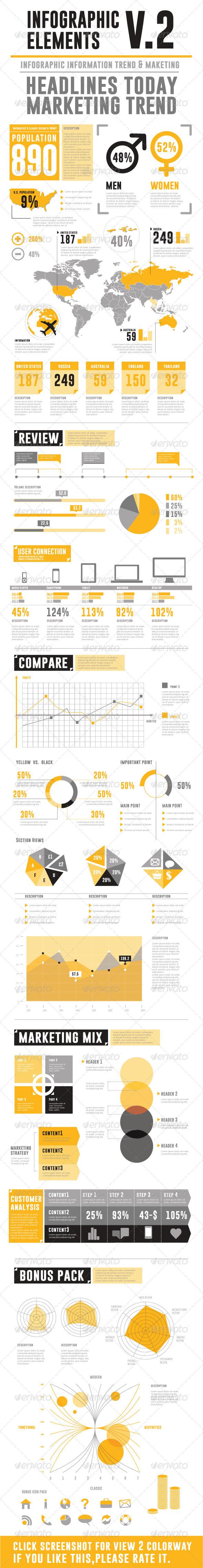 Infographic Elements V.2 - Infographics