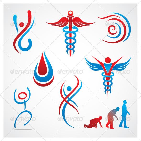 Health Medical Symbols - Health/Medicine Conceptual