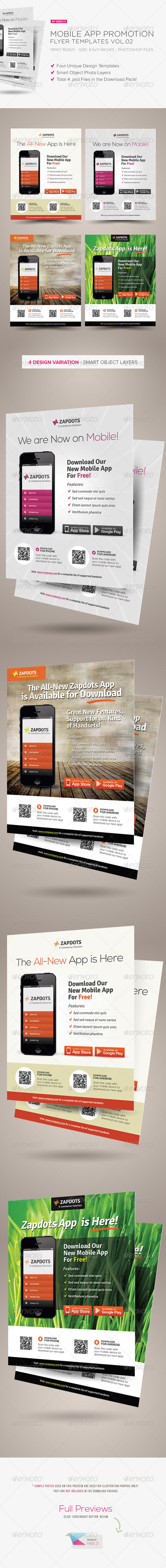 Mobile App Promotion Flyers Vol.02 - Corporate Flyers