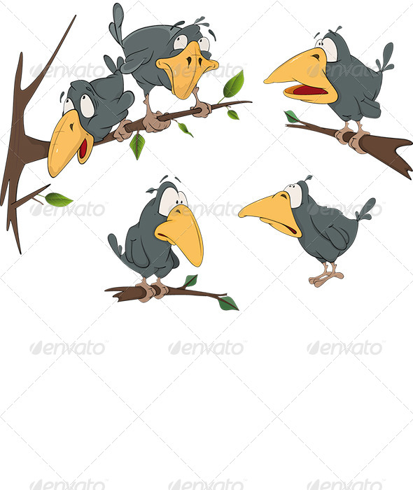 Ravens Cartoon - Animals Characters