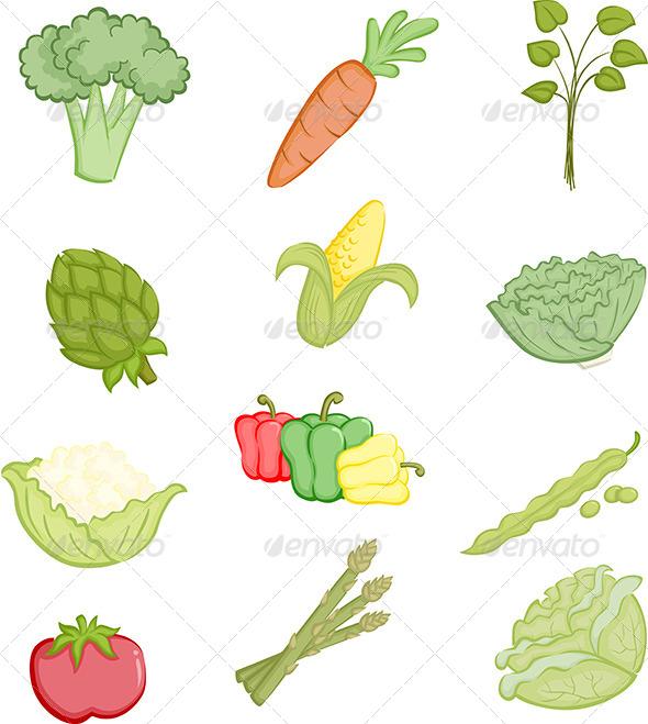 Vegetables Icons - Vectors