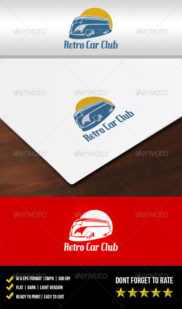 Retro Car Club Logo - Objects Logo Templates