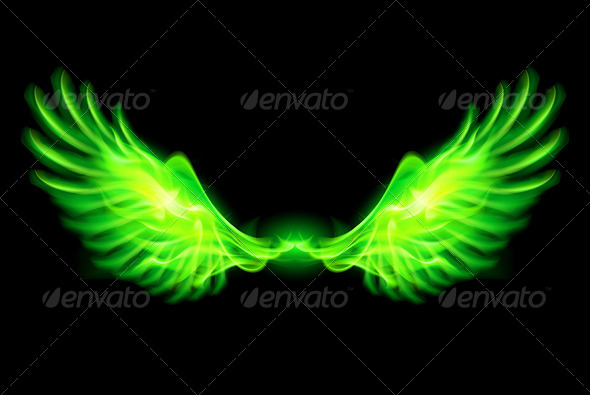 Green Fire Wings. - Monsters Characters