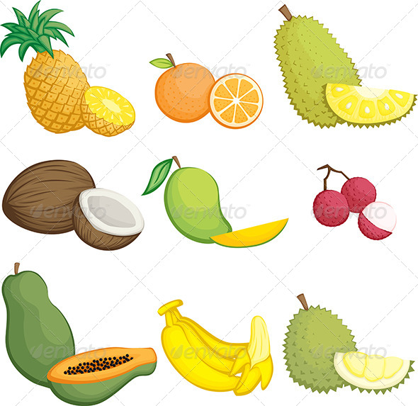 Tropical Fruits Icons - Icons