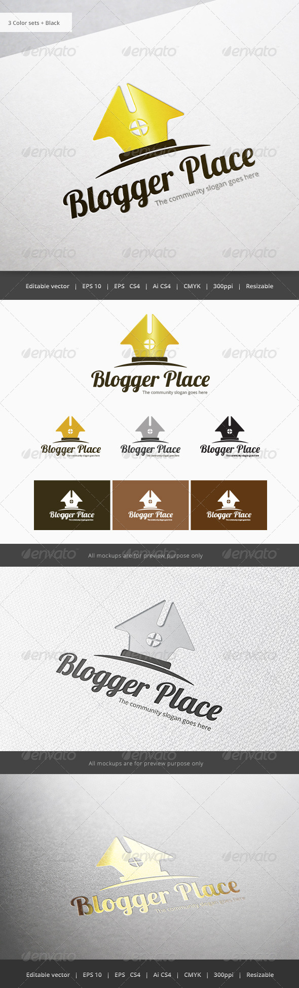 Blogger Place - Objects Logo Templates
