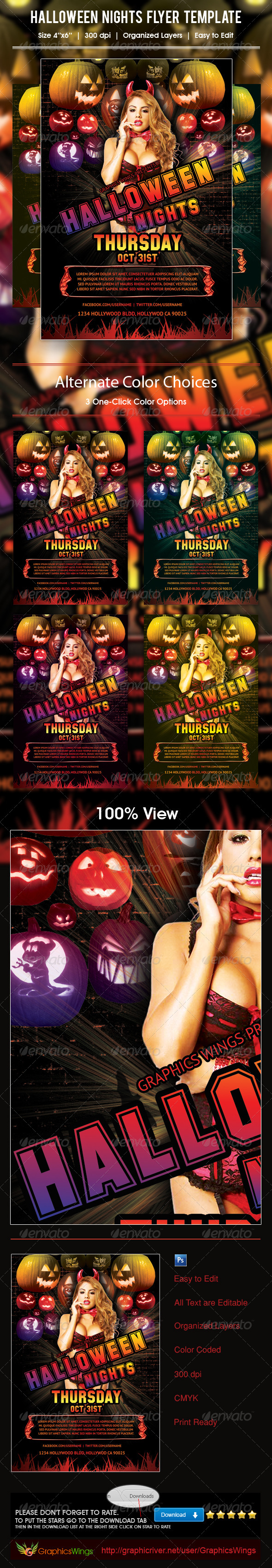 Halloween Nights Flyer Template - Events Flyers