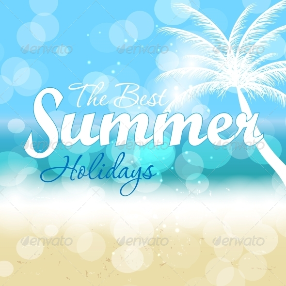 Summer Holidays Vector Background. - Landscapes Nature