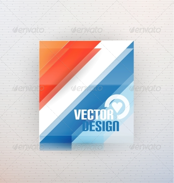 Vector 3D Glass Shape for Business Template - Media Technology