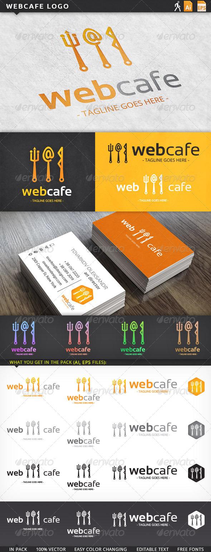 Web Internet Cafe Logo Template - Objects Logo Templates