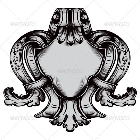 Antique Emblem - Flourishes / Swirls Decorative