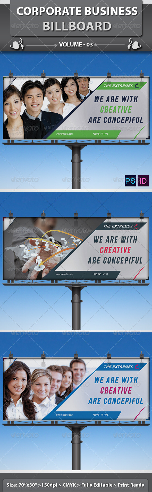 Corporate Business Billboard | Volume 3 - Signage Print Templates