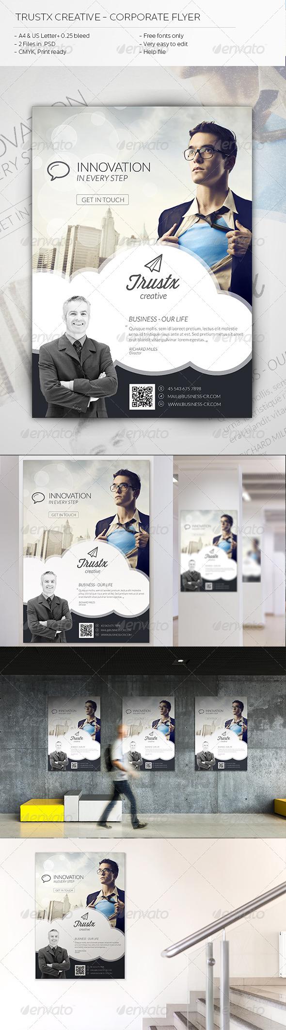 Trustx Creative - Corporate Flyer - Corporate Flyers