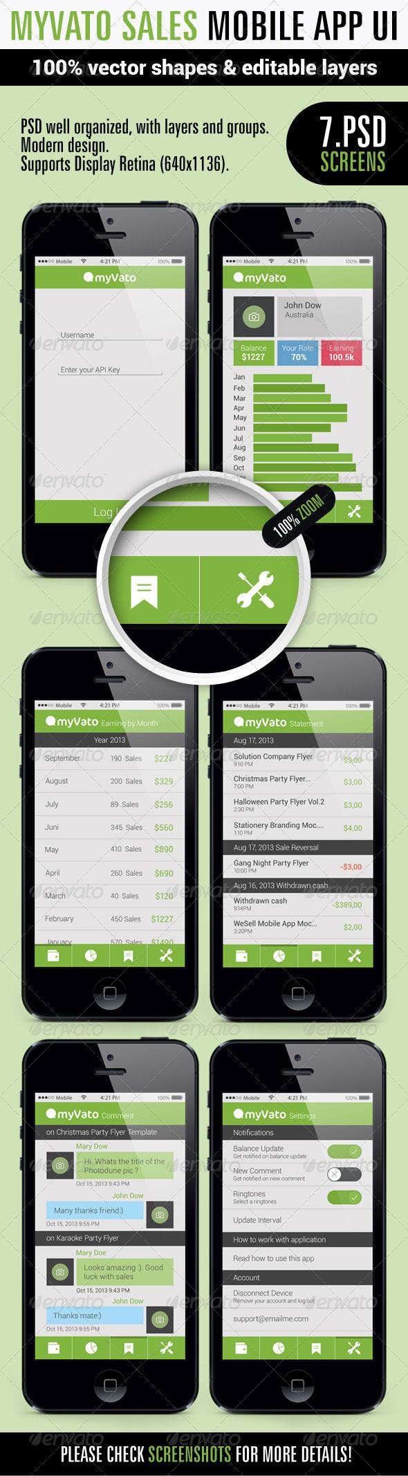 MyVato App Ui - User Interfaces Web Elements