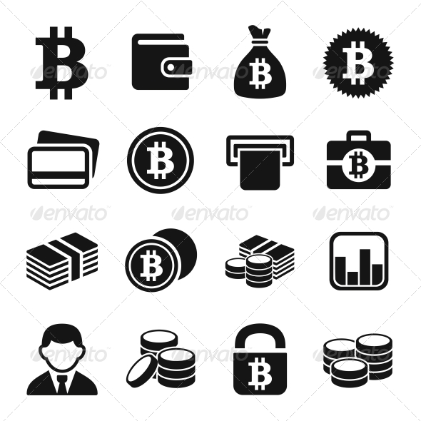 Bitcoin Icons Set - Business Icons